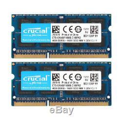 Crucial 16GB 8GB 4GB PC3L 12800 DDR3 1600MHz Laptop Memory RAM SO-DIMM 1.35V Lot