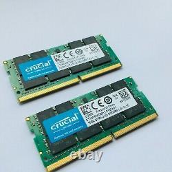 Crucial 32 GB DDR4 PC4-17000 2133MHz Laptop Memory Ram Modules Upgrade