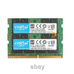 Crucial 32 GB DDR4 RAM 2x 16 GB 2400T 2400Mhz PC4-19200 SO-DIMM Laptop Memory