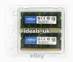 Crucial 32GB (16GB x 2) DDR4 2400MHz SODIMM (CT2K16G4SFD824A) Laptop RAM Memory