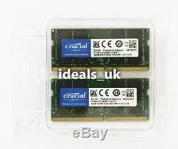 Crucial 32GB (16GB x 2) DDR4 2666MHz SODIMM (CT2K16G4SFD8266) Laptop RAM Memory