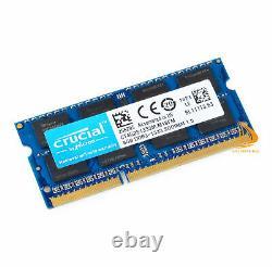 Crucial 32GB 4x 8GB 2Rx8 PC3-10600S DDR3-1333Mhz SODIMM Laptop Memory RAM 204Pin
