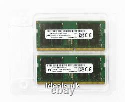 Crucial 64GB (32GB x 2) DDR4 2666MHz SODIMM (CT2K32G4S266M) Laptop RAM