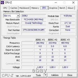 Crucial 8GB 2 X 4GB PC2-6400s DDR2-800 200pin SODIMM Laptop Memory RAM Upgrade 3