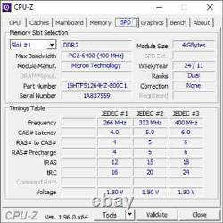 Crucial 8GB 2 X 4GB PC2-6400s DDR2-800 200pin SODIMM Laptop Memory RAM Upgrade 4
