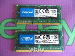 Crucial 8GB 2 X 4GB PC3L 1333 10600 DDR3L Sodimm Mac Laptop RAM Memory 2x4096MB