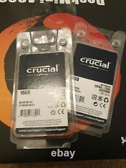 Crucial DDR4 2400MHz 32GB (2x16GB) Laptop, NUC, Sodimm Memory, RAM 1.2v CL17