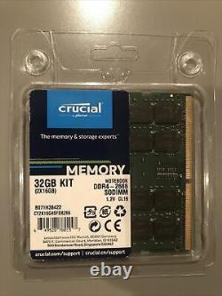Crucial DDR4 Laptop SODIMM 32GB 16GB x 2 1.2V 2666 CL19 Dual Rank Memory RAM