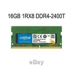 Crucial Kits 2x 16GB 1RX8 PC4-2400T DDR4-19200S SO-DIMM Laptop Memory RAM 1.2V $