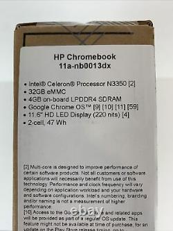 HP Chromebook 11.6 Intel Celeron 4GB RAM 32 GB Flash Memory Ash Gray Free Ship