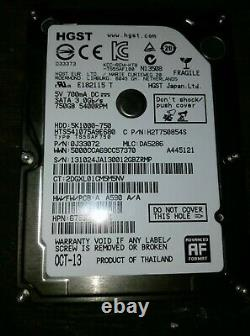 HP Pavilion 17-e074nr AMD A8 2.1MHz 6Gb Memory RAM HGST TS5SAF750 0.70A Hdd
