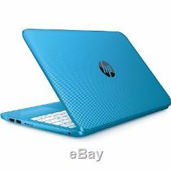 HP Stream 11.6 Laptop Intel Celeron N3060 4GB RAM 32GB Flash Memory Aqua Blue
