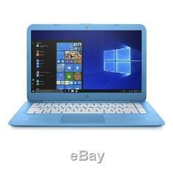 HP Stream 14 Laptop Intel Celeron N3060 4GB RAM 64GB Flash Memory Aqua Blue