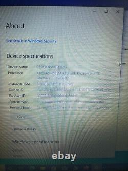 Hp 15-n267sa AMD A8 processor, 8Gb ram memory, 1Tb hard drive