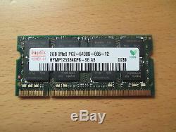 Hynix 2GB PC2-6400 666 DDR2 Sodimm Laptop RAM Memory 1 x 2048MB Single Stick