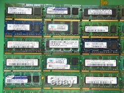 Job Lot 50 x Laptop RAM Memory DDR DDR2 512MB 256GB 5300 4200 2700 scrap gold -3