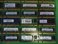 Job Lot 50 x Laptop RAM Memory DDR2 512MB 1GB 5300 4200 scrap gold (8)