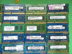 Job Lot 50 x Laptop RAM Memory DDR3 1GB 10600 1333 scrap gold (R4)
