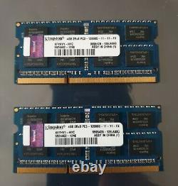 Kingston 8GB 2X4GB DDR3 2RX8 1600MHz PC3-12800S 204pin SODIM Laptop Memory RAM