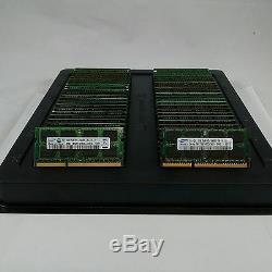 LOT 250 SAMSUNG MICRON HYNIX 2GB DDR3 PC3-10600 1333MHz 200pin Laptop MEMORY RAM