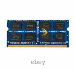 LOT Crucial 20X 8GB 2Rx8 PC3L-12800S DDR3L-1600Mhz SODIMM Laptop Memory RAM 1.35
