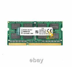LOT Kingston 8GB 2RX8 PC3-12800S DDR3 1600Mhz 204Pin SODIMM Laptop Memory RAM 8G