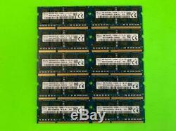 LOT OF 10 X HYNIX 8GB DDR3 Laptop Ram Memory 2Rx8 PC3L-12800S HMT41GS6BFR8A-PB