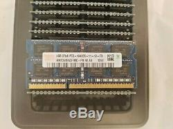 LOT of 20 Hynix DDR3 4GB Laptop Memory Mixed Speeds (RAM) PC3 DDR 3 4 GB