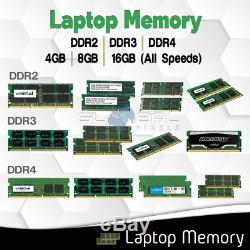 Laptop Memory RAM DDR2 DDR3 DDR4 4GB 8GB 16GB / MHz PC3 PC4 SODIMM lot All Speed