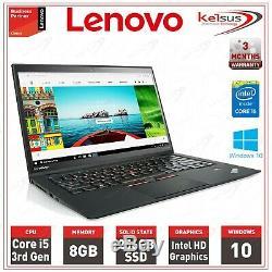 Lenovo X1 Carbon Core i5 1.80GHz CPU 8GB RAM Memory 256GB SSD Windows 10 Laptop