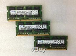 Lot 10pcs Samsung 8GB DDR3 1600MHz PC3-12800S SO-DIMM Laptop RAM Memory