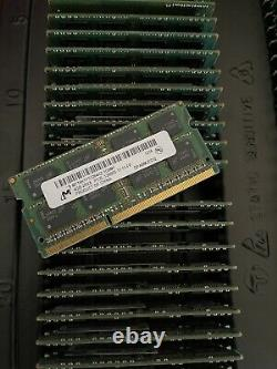Lot 50 Micron 4gb Ddr3 Laptop So-dimm Ram Memory Pc3l-12800s Mt16ktf51264hz