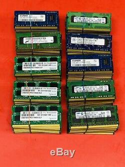 Lot Of 100 2GB MEMORY RAM Pc3 10600S Mix Brand For Laptop