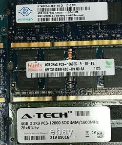 Lot Of 25 / DDR3 PC3 / 4GB / Laptop Memory RAM