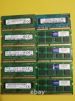 Lot Of 50 4gb Pc3 Mixed Brands & Models Ddr3 Laptop Memory Ram