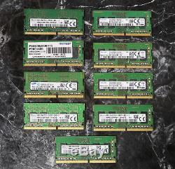 Lot of 10, 4GB DDR4 2133 & 2400 & 2166 MHz 260 pin SO-DIMM Laptop Memory RAM