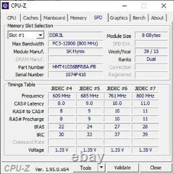 Lot of 10 8GB 2Rx8 PC3L-12800S DDR3-1600 SODIMM Laptop Memory RAM Samsung Micron