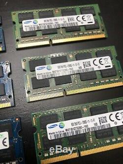 Lot of 10 SK Hynix 8GB 2Rx8 DDR3 PC3L-12800S SODIMM Laptop Memory RAM Samsung