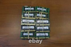 Lot of (100x) 2GB DDR2 PC2 Laptop Memory RAM Mixed Brand Mixed Speed