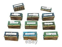 Lot of 103 RAM Sticks of 2GB DDR3 PC3 LAPTOP Memory RAM Various Brands & Speeds