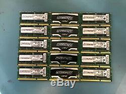 Lot of 15 / 4GB / DDR3 / PC3 / Laptop RAM Memory 1600MHz