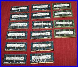 (Lot of 16) 8GB DDR3 Laptop RAM Memory PC3L-12800S Hynix & Samsung Tested
