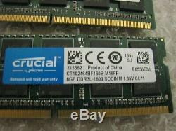 Lot of 17 8GB DDR3L PC3L Laptop Memory RAM Lot 136GB Total
