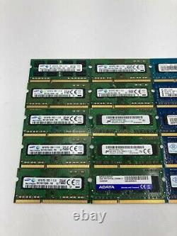 Lot of (20) 4GB PC3L-12800S DDR3L-1600 Laptop Memory RAM Mixed Brands TESTED