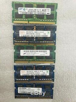 Lot of 200 PIECES 4GB PC3 Memory Ram for Laptops. Various Brand