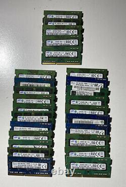Lot of 25 4GB PC3L-12800 DDR3L-1600 Laptop Memory Ram Mixed Brands