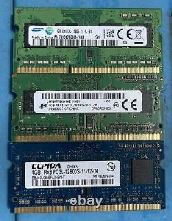 Lot of 25 DDR3 PC3 4GB Laptop Memory RAM mixed speeds Tested Working