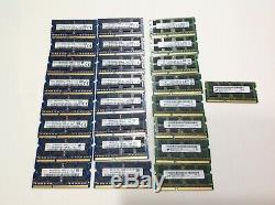 Lot of 25 Hynix/Samsung/Micron DDR3 4GB 2Rx8 PC3L-12800S Laptop Memory Ram