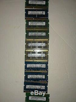 Lot of 29 4GB DDR3 PC3-12800S 10600s Samsung Laptop SODIMM Memory RAM Sticks MIX