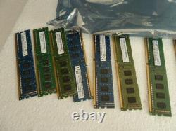 Lot of 2GB PC3 DDR3,1gb pc2, DESKTOP, LAPTOP MIXED RAM MEMORY LOT